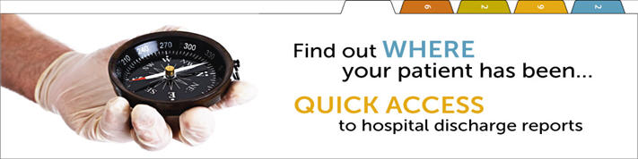 Quick access to hospital discharge reports